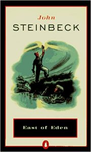 "John Steinbeck's ""East of Eden"" book cover."