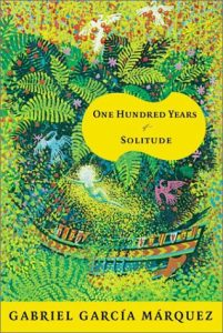 "Gabriel Garcia Marquez's ""One Hundred Years of Solitude"" book cover."