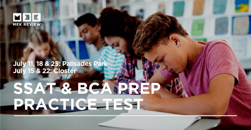 Image graphic for SSAT & BCA Prep Practice Test